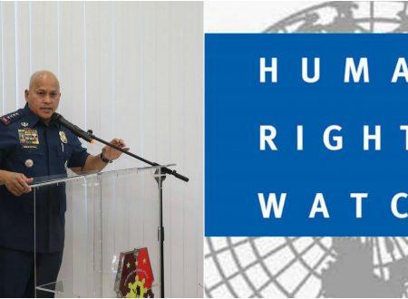 """Dela Rosa dares Human Rights Watch: """"Mag file nalang kayo ng kaso. Puro kayo dakdak!"""""""