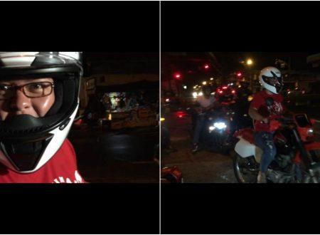 WATCH: Davao City Mayor Inday Sara Duterte roams around Davao with her motorbike