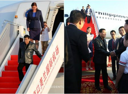 WATCH: President Duterte and Mayor Inday Sara receive red carpet welcome in China