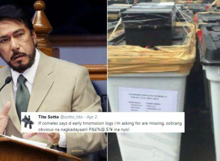 """Senator Sotto vents anger on the news about wet ballots: """"Obvious ang dayaan, P.I nyo!"""""""