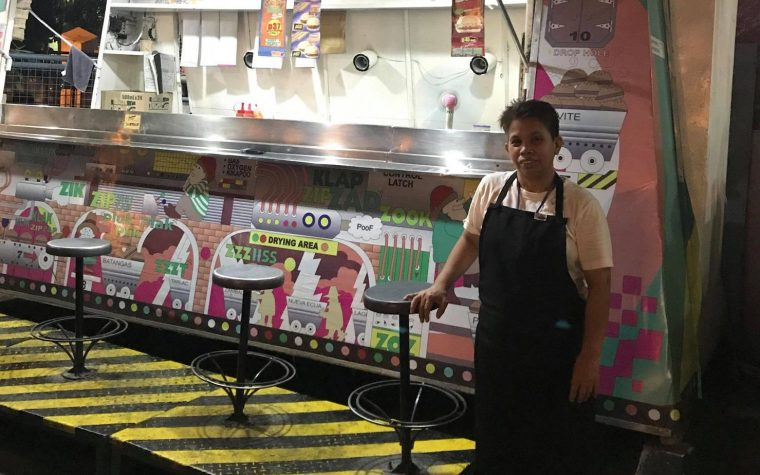Burger seller who shifts 48 hours straight has gone viral on social media