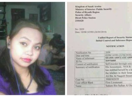 OFW who scheduled to go home allegedly stabbed to death in Saudi Arabia