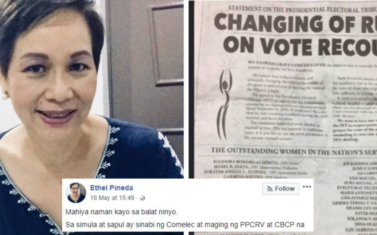 Doctor slams VP Robredo and her supporters for urging PET to change their rules on recount