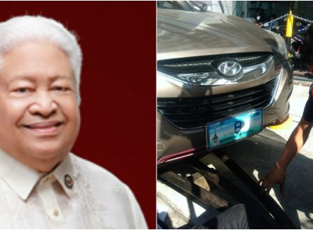 Vehicle of Albay Rep. Edcel Lagman towed around Quezon City for illegal parking